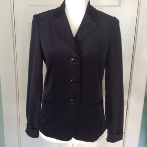 Etcetera Navy Corduroy & Sweater Blazer, Small